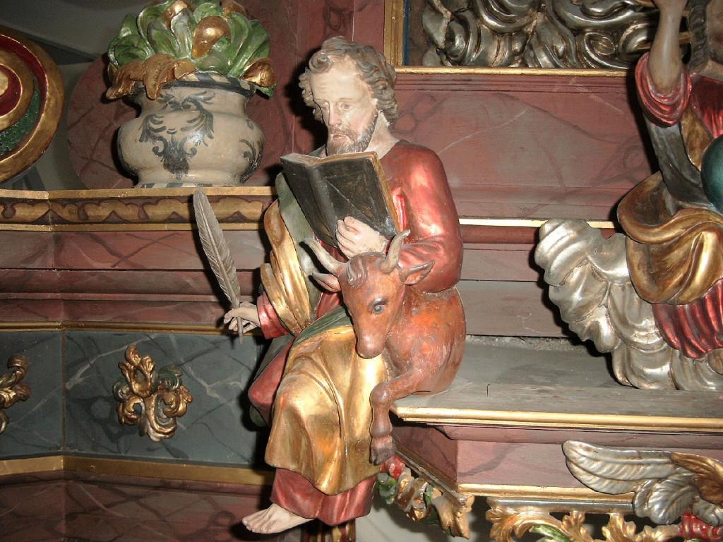Evangelist Lukas mit Stier